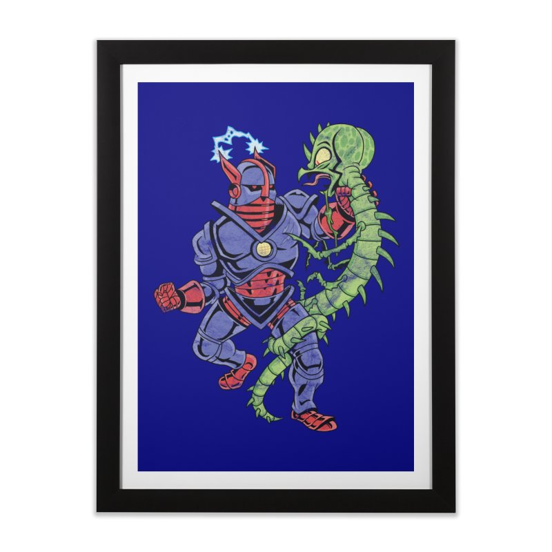 NEUTRO vs. SERPENTIPEDE Home Framed Fine Art Print by Frankenstein's Artist Shop