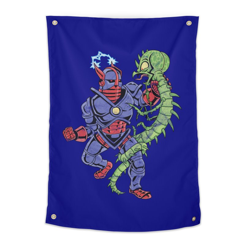 NEUTRO vs. SERPENTIPEDE Home Tapestry by Frankenstein's Artist Shop