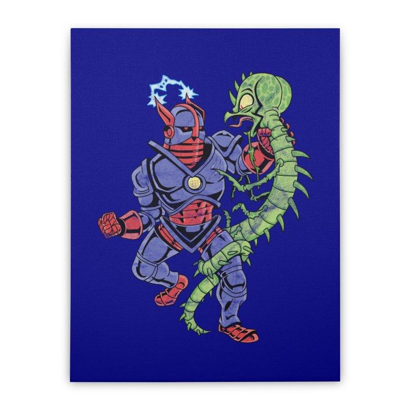 NEUTRO vs. SERPENTIPEDE Home Stretched Canvas by Frankenstein's Artist Shop