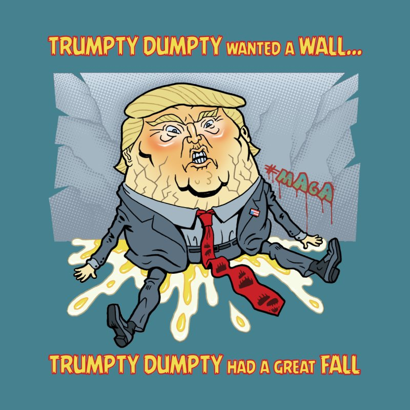 Trumpty Dumpty Wanted a Wall... Men's Longsleeve T-Shirt by Frankenstein's Artist Shop