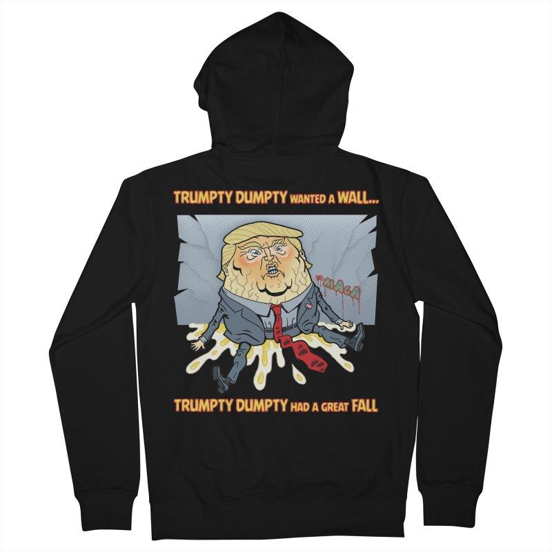 Trumpty Dumpty Wanted a Wall... Men's Zip-Up Hoody by Frankenstein's Artist Shop