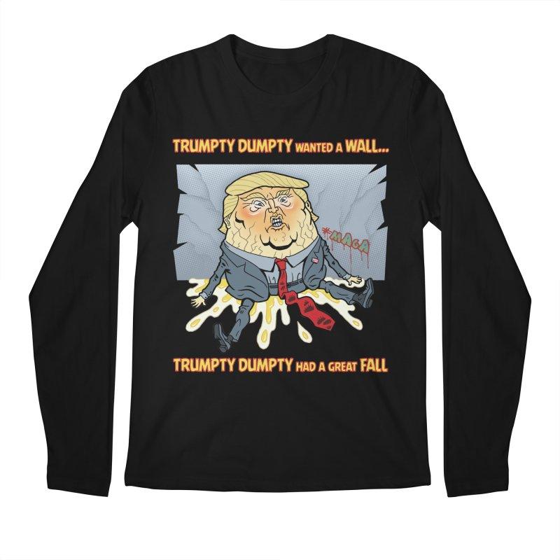 Trumpty Dumpty Wanted a Wall... Men's Regular Longsleeve T-Shirt by Frankenstein's Artist Shop