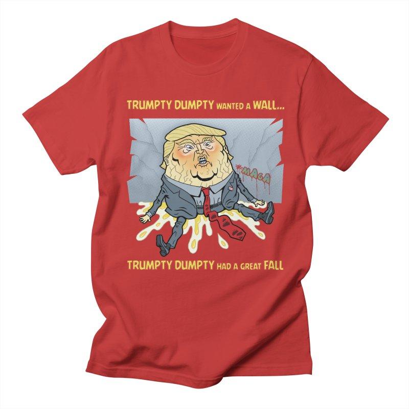 Trumpty Dumpty Wanted a Wall... Men's T-Shirt by Frankenstein's Artist Shop