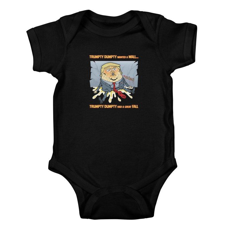 Trumpty Dumpty Wanted a Wall... Kids Baby Bodysuit by Frankenstein's Artist Shop