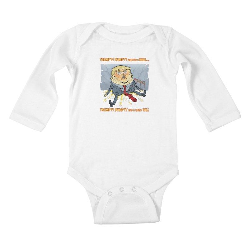 Trumpty Dumpty Wanted a Wall... Kids Baby Longsleeve Bodysuit by Frankenstein's Artist Shop