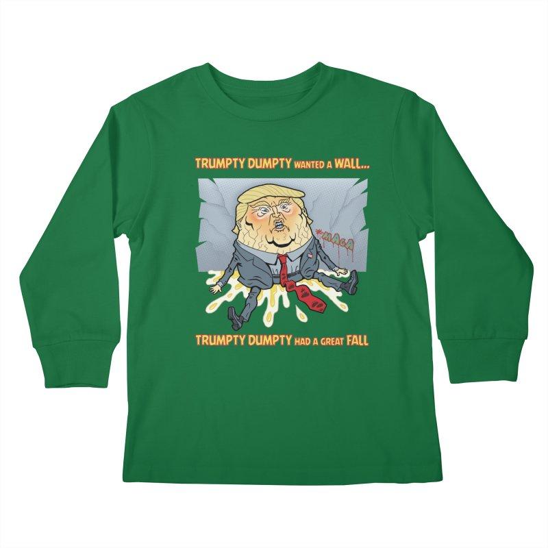 Trumpty Dumpty Wanted a Wall... Kids Longsleeve T-Shirt by Frankenstein's Artist Shop
