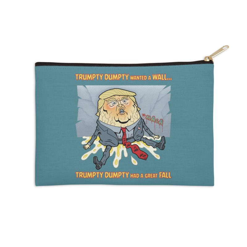 Trumpty Dumpty Wanted a Wall... Accessories Zip Pouch by Frankenstein's Artist Shop