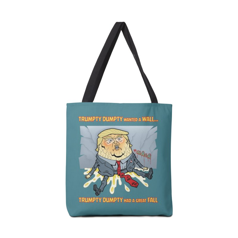 Trumpty Dumpty Wanted a Wall... Accessories Bag by Frankenstein's Artist Shop