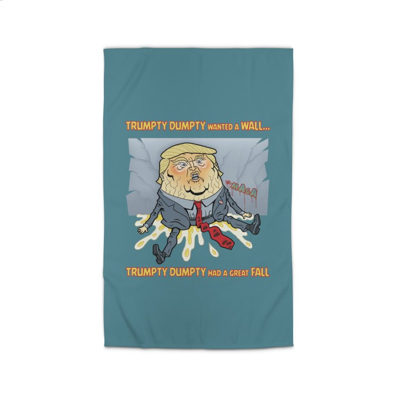 Trumpty Dumpty Wanted a Wall... Home Rug by Frankenstein's Artist Shop