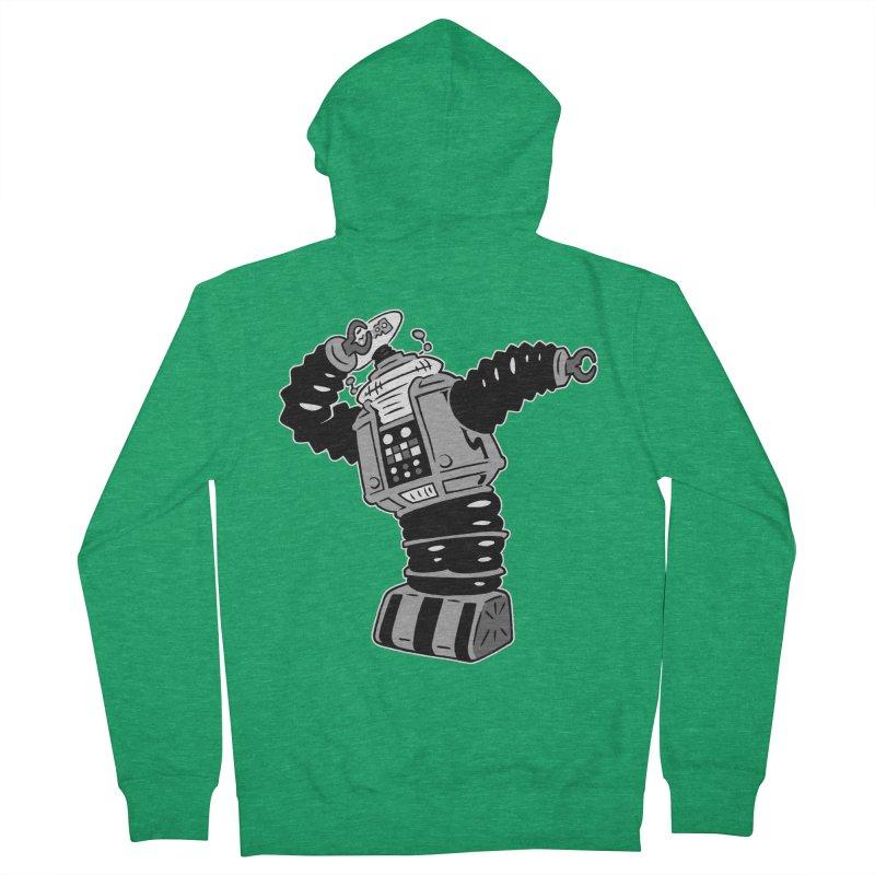 DAB Robot Men's French Terry Zip-Up Hoody by Frankenstein's Artist Shop