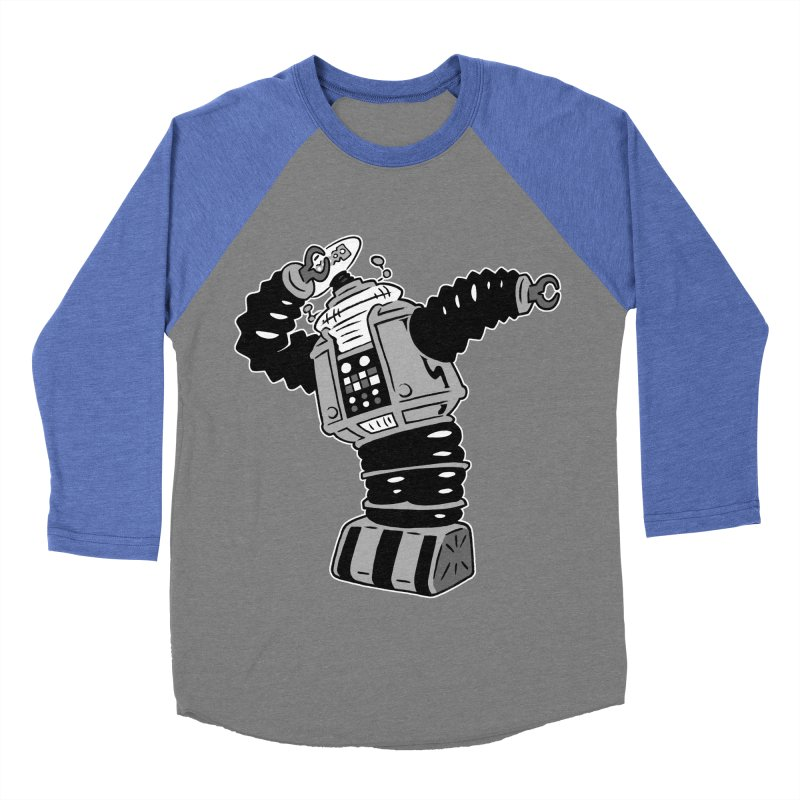 DAB Robot Men's Baseball Triblend T-Shirt by Frankenstein's Artist Shop