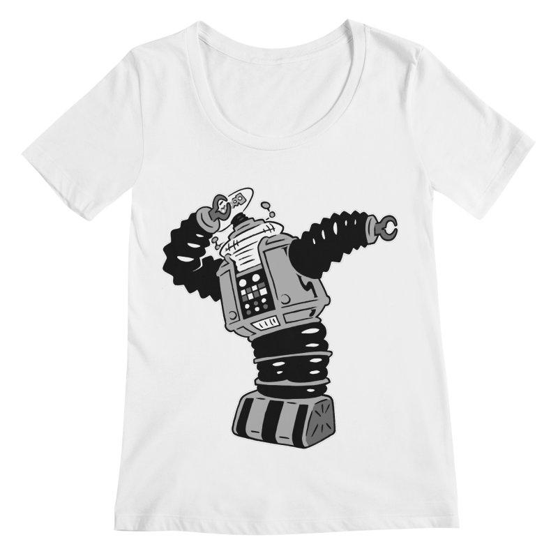 DAB Robot Women's Scoopneck by Frankenstein's Artist Shop