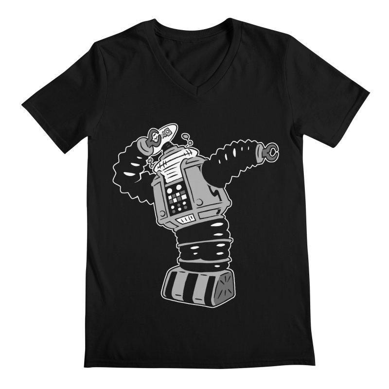 DAB Robot Men's Regular V-Neck by Frankenstein's Artist Shop