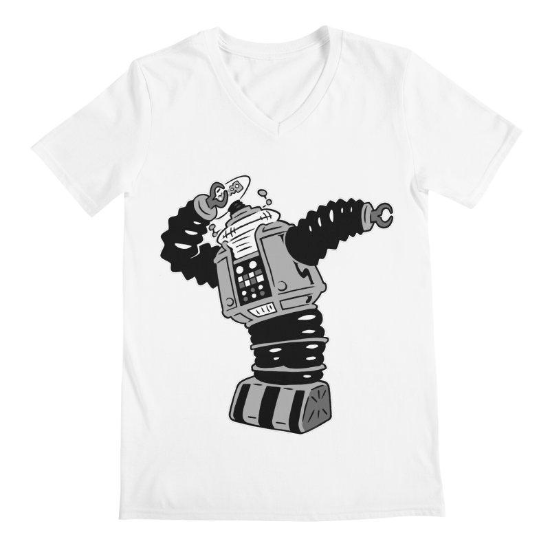 DAB Robot Men's V-Neck by Frankenstein's Artist Shop