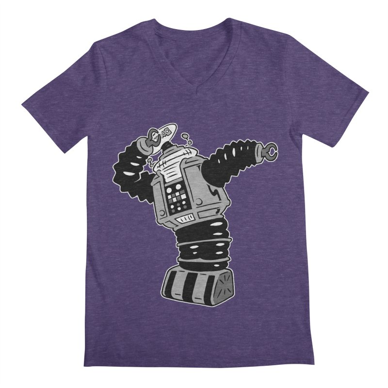 DAB Robot Men's Regular V-Neck by Frankenstein's Artist Shop