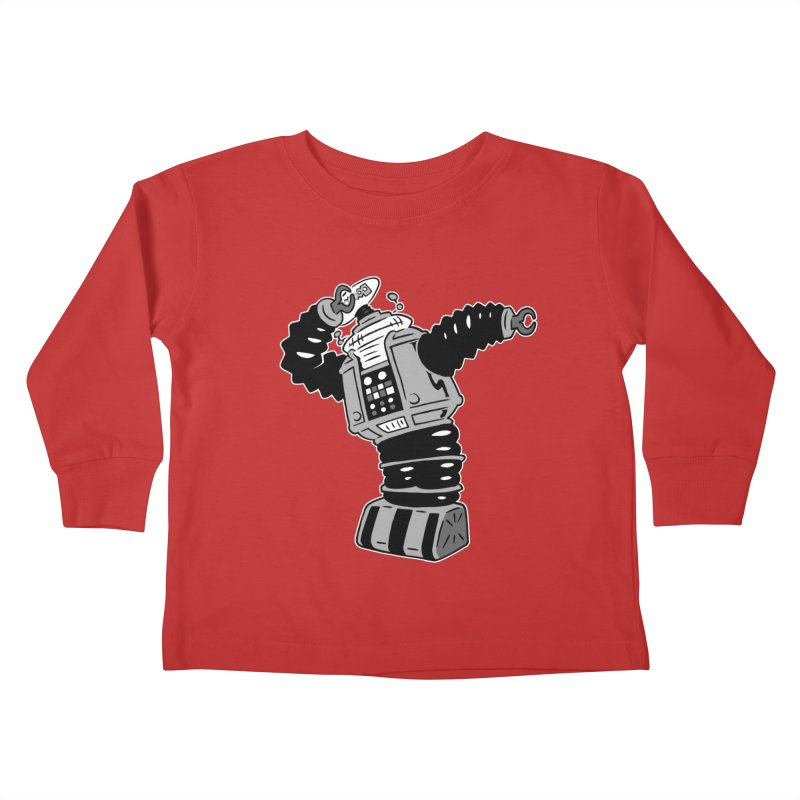 DAB Robot Kids Toddler Longsleeve T-Shirt by Frankenstein's Artist Shop