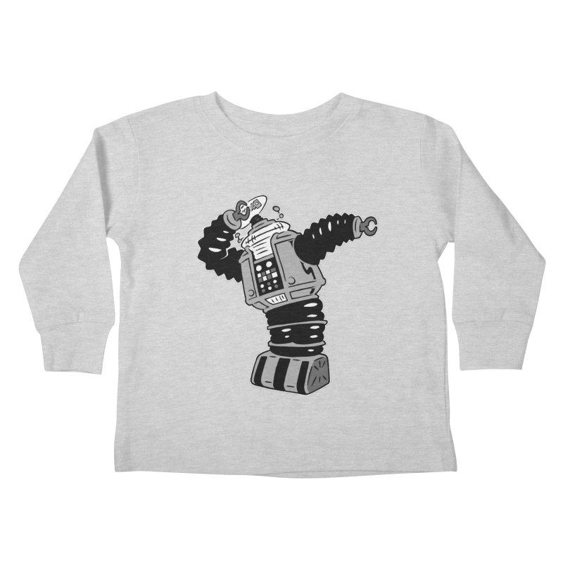DAB Robot Kids Toddler Longsleeve T-Shirt by Frankenstein's Artist Shop