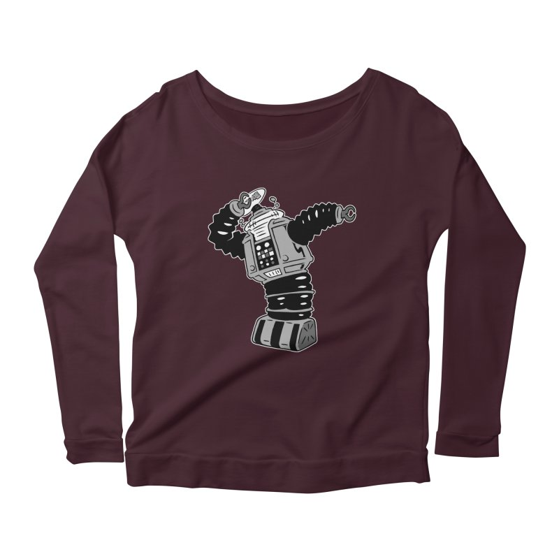 DAB Robot Women's Scoop Neck Longsleeve T-Shirt by Frankenstein's Artist Shop