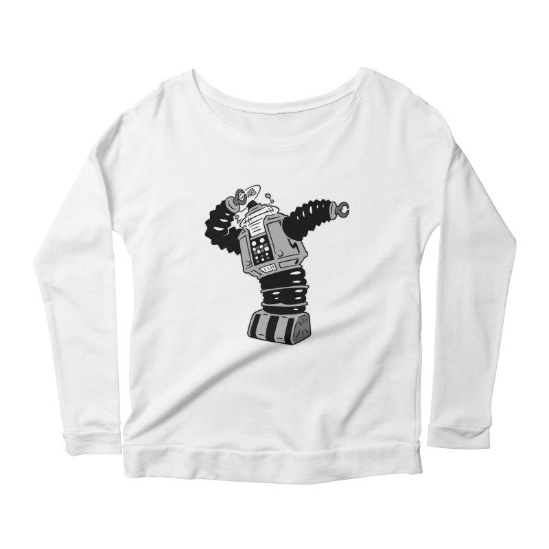 DAB Robot Women's Scoop Neck Longsleeve T-Shirt by Frankenstein's Artist Shop