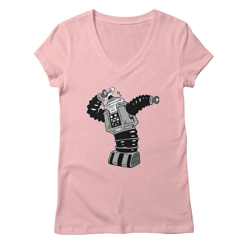 DAB Robot Women's V-Neck by Frankenstein's Artist Shop