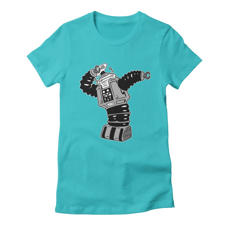 DAB Robot Women's Fitted T-Shirt by Frankenstein's Artist Shop