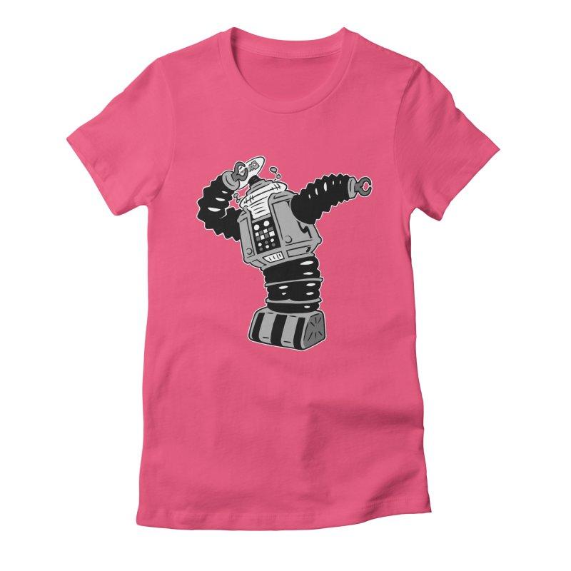 DAB Robot Women's Fitted T-Shirt by Frankenstein's Artist Shop
