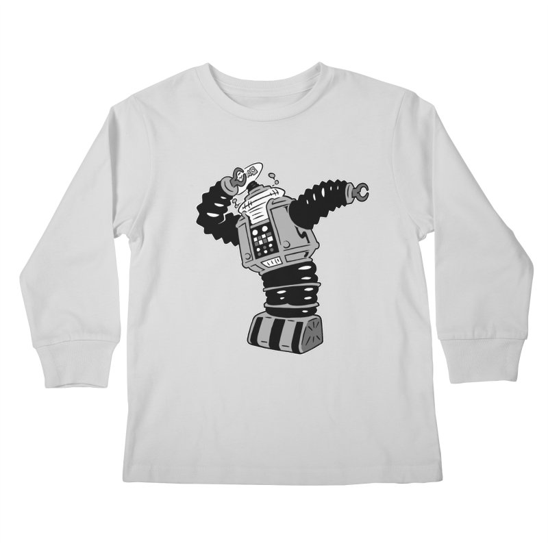 DAB Robot Kids Longsleeve T-Shirt by Frankenstein's Artist Shop