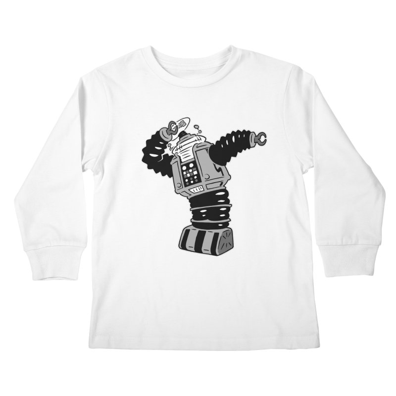 DAB Robot Kids Longsleeve T-Shirt by Frankenstein's Artist Shop