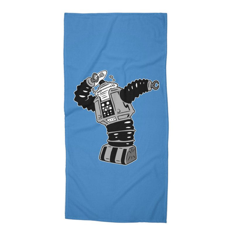 DAB Robot Accessories Beach Towel by Frankenstein's Artist Shop