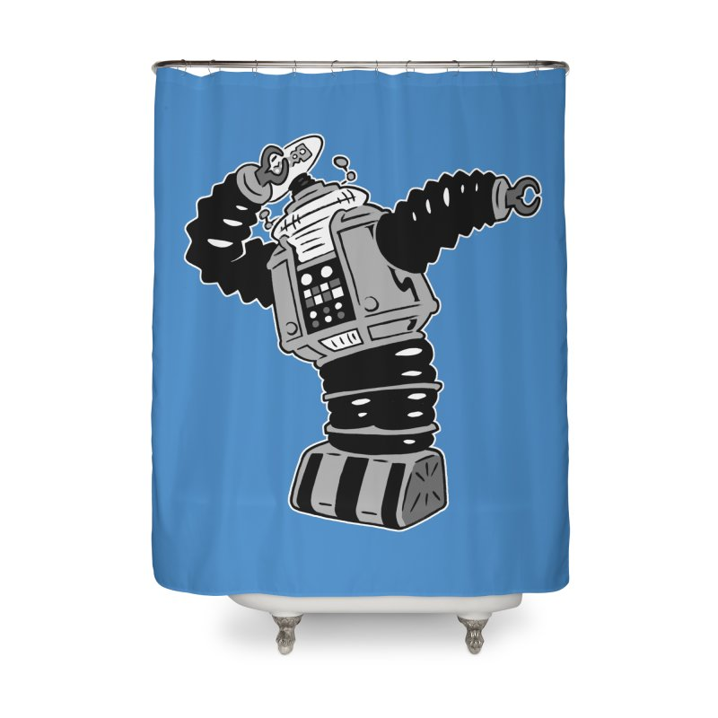 DAB Robot Home Shower Curtain by Frankenstein's Artist Shop