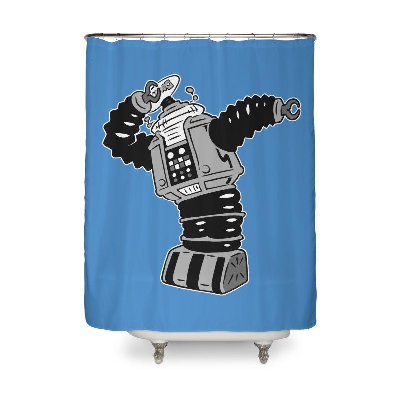 DAB Robot Home Shower Curtain by Frankenstein's Artist Shop