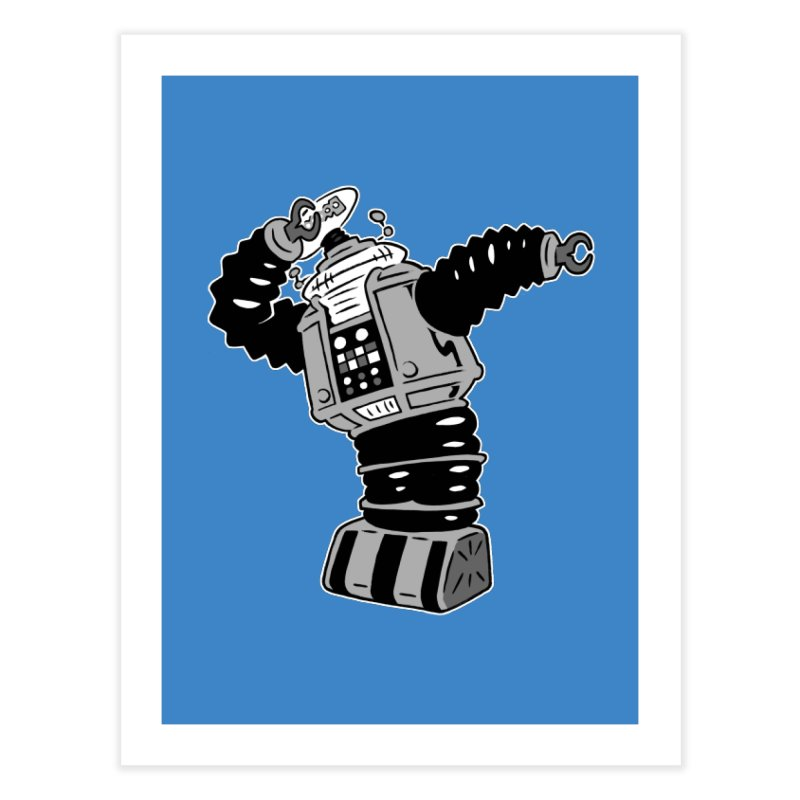 DAB Robot Home Fine Art Print by Frankenstein's Artist Shop