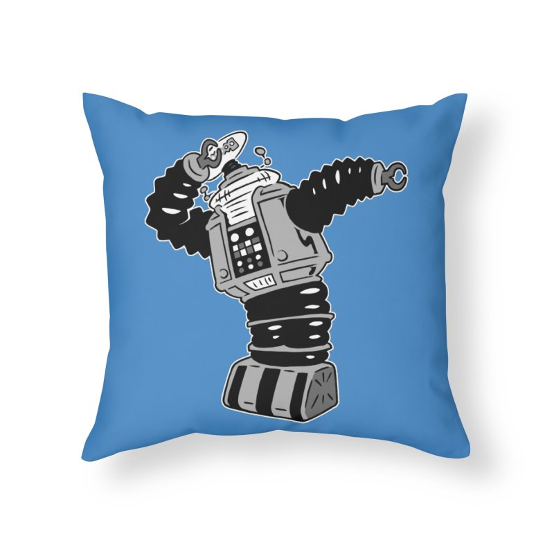 DAB Robot Home Throw Pillow by Frankenstein's Artist Shop