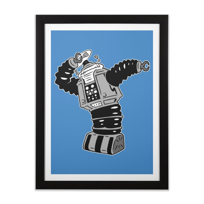 DAB Robot Home Framed Fine Art Print by Frankenstein's Artist Shop