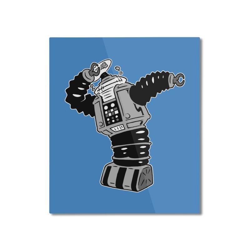 DAB Robot Home Mounted Aluminum Print by Frankenstein's Artist Shop