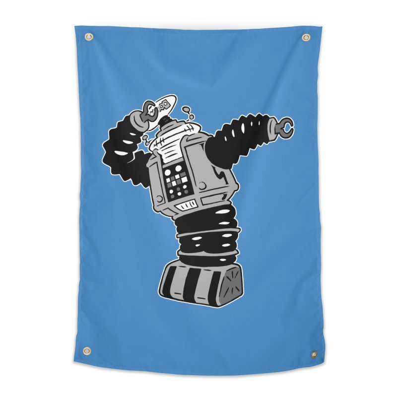 DAB Robot Home Tapestry by Frankenstein's Artist Shop