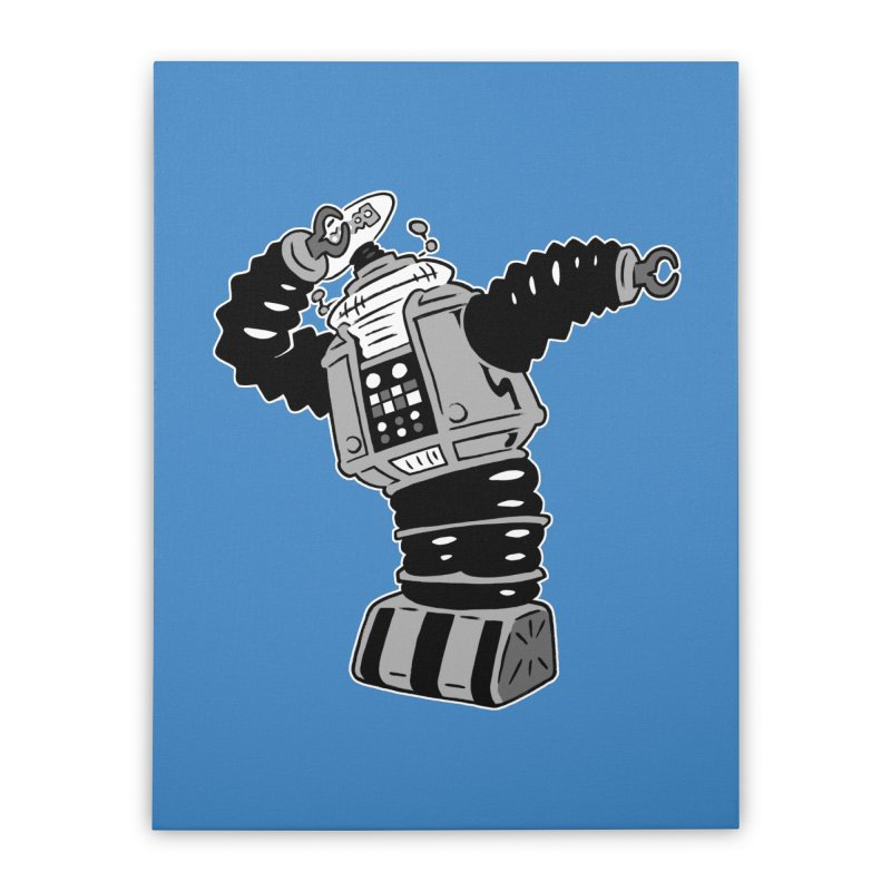 DAB Robot Home Stretched Canvas by Frankenstein's Artist Shop