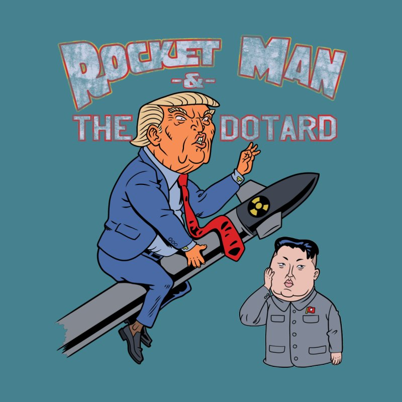 Rocket Man & the Dotard Home Mounted Aluminum Print by Frankenstein's Artist Shop