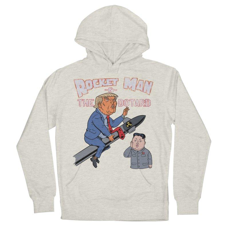 Rocket Man & the Dotard Women's Pullover Hoody by Frankenstein's Artist Shop