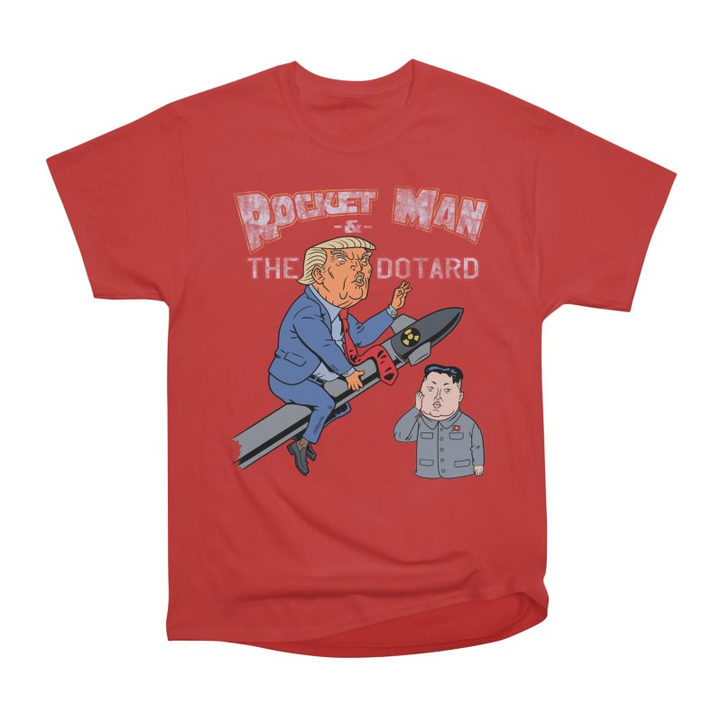 Rocket Man & the Dotard Men's Classic T-Shirt by Frankenstein's Artist Shop