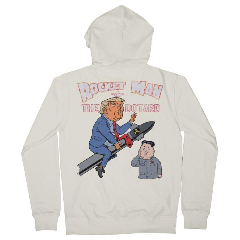 Rocket Man & the Dotard Men's Zip-Up Hoody by Frankenstein's Artist Shop