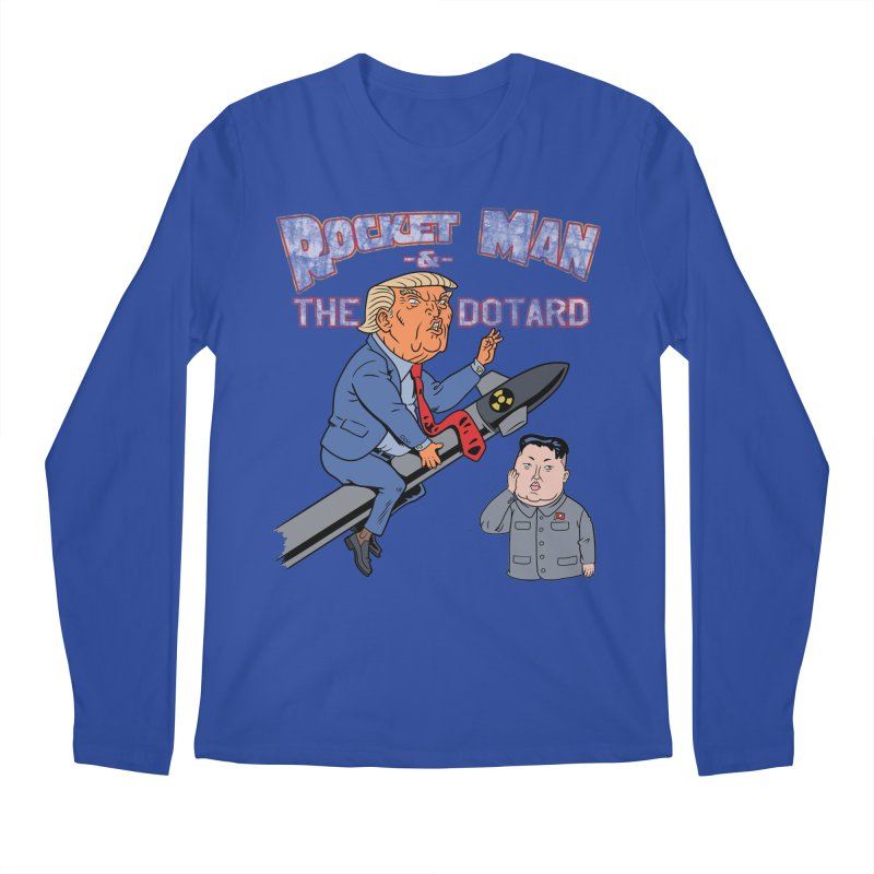 Rocket Man & the Dotard Men's Regular Longsleeve T-Shirt by Frankenstein's Artist Shop