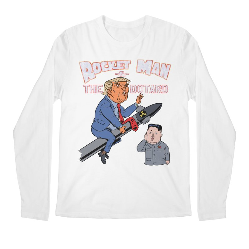 Rocket Man & the Dotard Men's Longsleeve T-Shirt by Frankenstein's Artist Shop