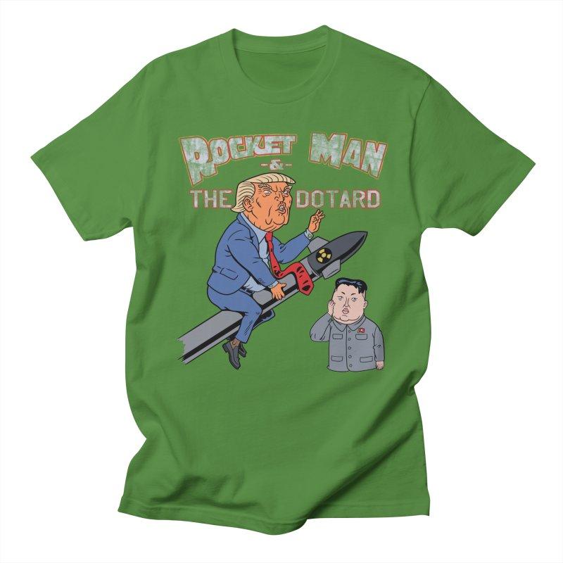 Rocket Man & the Dotard Men's T-Shirt by Frankenstein's Artist Shop