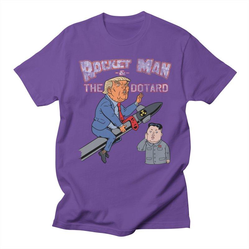 Rocket Man & the Dotard Women's Unisex T-Shirt by Frankenstein's Artist Shop