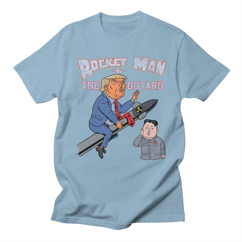 Rocket Man & the Dotard Men's T-shirt by Frankenstein's Artist Shop