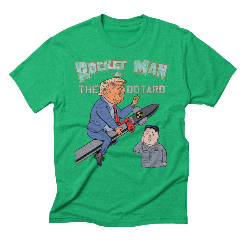 Rocket Man & the Dotard Men's Triblend T-Shirt by Frankenstein's Artist Shop