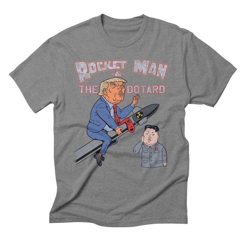 Rocket Man & the Dotard Men's Triblend T-Shirt by Frankenstein's Artist Shop