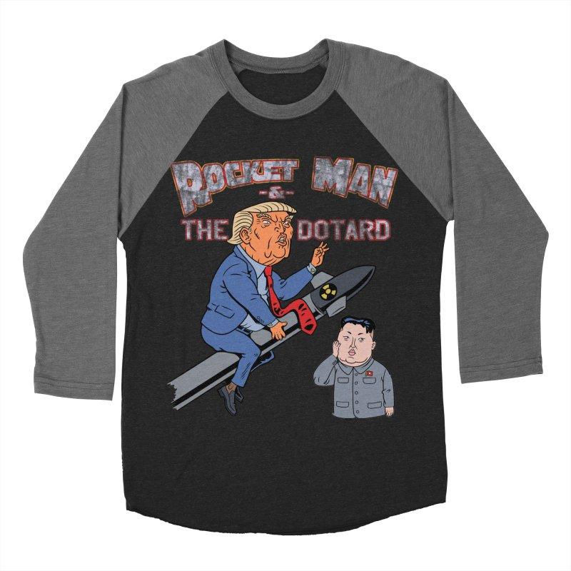 Rocket Man & the Dotard Women's Baseball Triblend Longsleeve T-Shirt by Frankenstein's Artist Shop