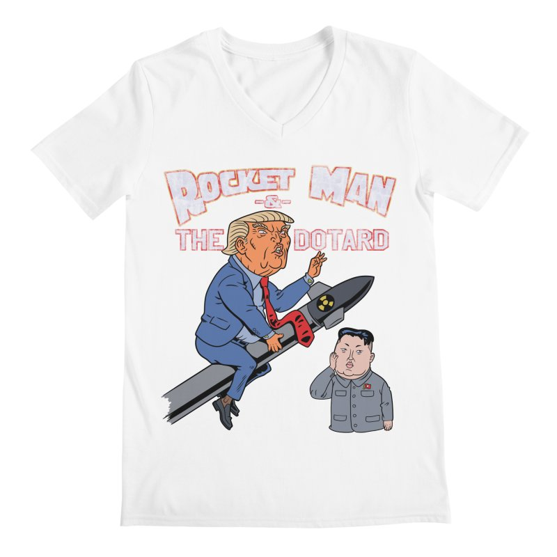Rocket Man & the Dotard Men's V-Neck by Frankenstein's Artist Shop